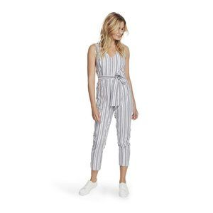 NEW 1. State Grace Striped Tapered Leg Jumpsuit